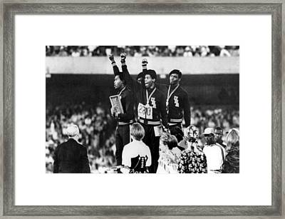 1968 Olympics, 4x100 Mens Relay Team Framed Print