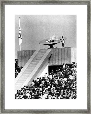 1968 Olympics, Enriqueta Basilio Framed Print by Everett
