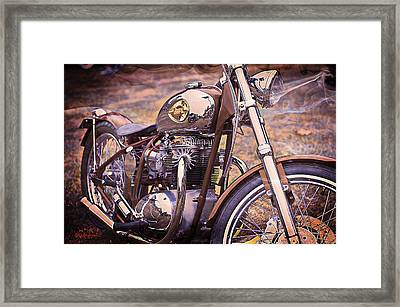 1969 Bsa Js Framed Print by SM Shahrokni