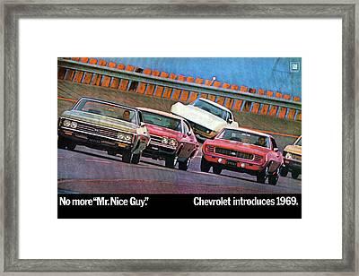 1969 Chevrolet Impala Chevelle Camaro Corvette And Nova Framed Print