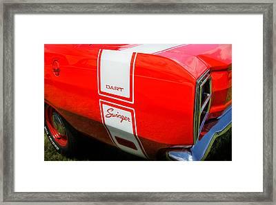 1969 Dodge Dart Swinger 340 Framed Print by Thomas Schoeller