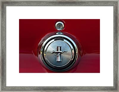 1969 Ford Mustang Mach I Gas Cap Framed Print