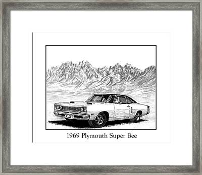 1969 Plymouth Super Bee Framed Print by Jack Pumphrey