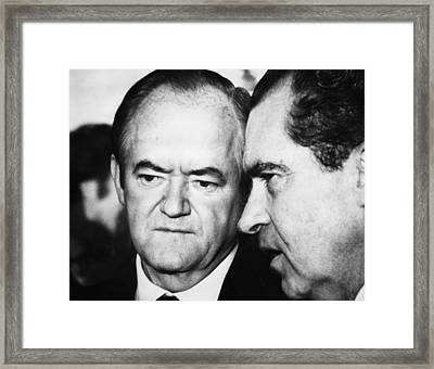 1969 Us Presidency.  Vice President Framed Print