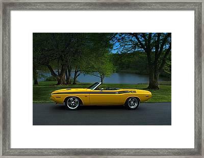 1970 Dodge Challenger Rt Convertible Framed Print