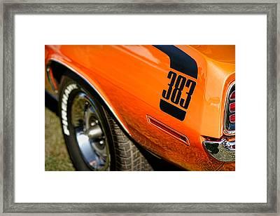 1970 Plymouth Cuda Barracuda 383 Framed Print by Gordon Dean II