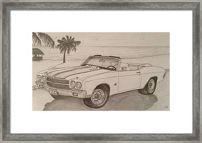 1970 Ss Chevelle Ls6 Framed Print