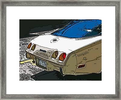 1970s Chevrolet Corvette Stingray Framed Print by Samuel Sheats