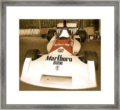 Framed Print featuring the photograph 1971 Brm P160 Formula 1 Grand Prix Car by John Colley