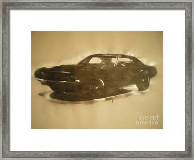 1971-dodge-challenger-rt Framed Print by Barry Boom
