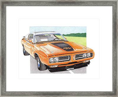 1971 Dodge Charger Rt Framed Print by James Robert