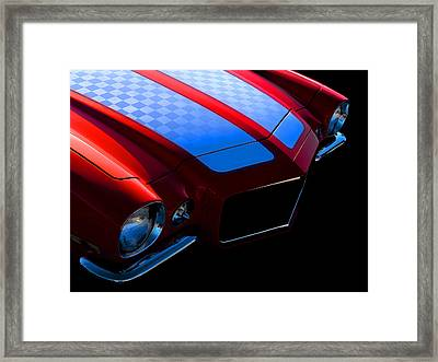 1971 Orange Camero Framed Print