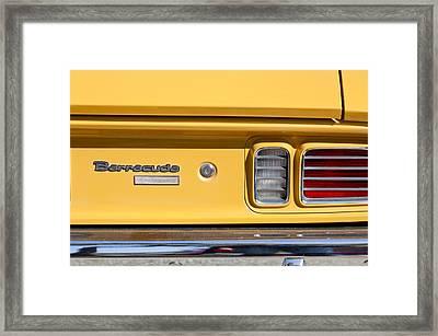 1971 Plymouth Barracuda Convertible 318 Ci Taillight Emblem Framed Print