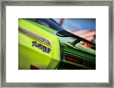 1971 Plymouth Duster Twister Framed Print by Gordon Dean II