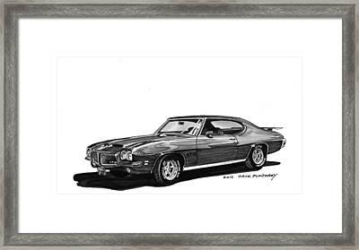 1971 Pontiac Gto Framed Print by Jack Pumphrey