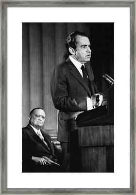 1971 Us Presidency.  Fbi Director J Framed Print by Everett