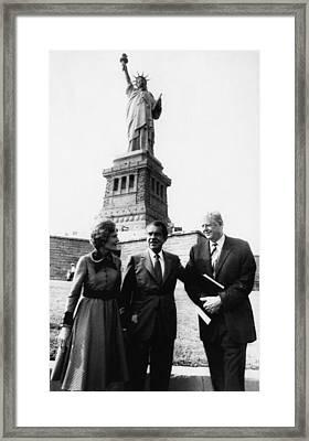 1972 Us Presidency.  From Left First Framed Print by Everett