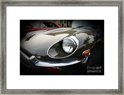 1973 Jaguar Type E Front Framed Print by Paul Ward