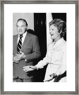 1973 Us Presidency.  Bob Hope And First Framed Print by Everett