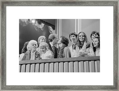 1976 Democratic Convention. Jimmy Framed Print by Everett