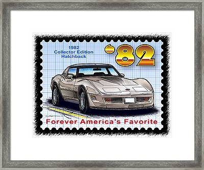 1982 Collector Edition Hatchback Corvette Framed Print