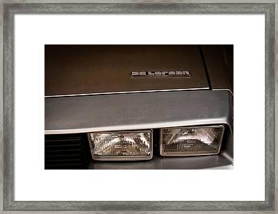 1983 Delorean Dmc-12 Framed Print by David Patterson