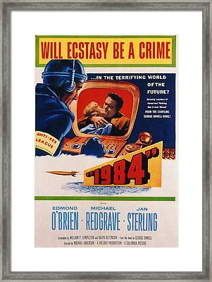 1984, Jan Sterling, Edmond Obrien, 1956 Framed Print