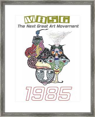 1985 Masg Art By Upside Down Artist L R Emerson II Framed Print by L R Emerson II