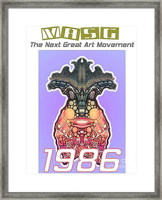 1986 Masg Art Collector's Poster By Upside Down Artist L R Emerson II Framed Print by L R Emerson II