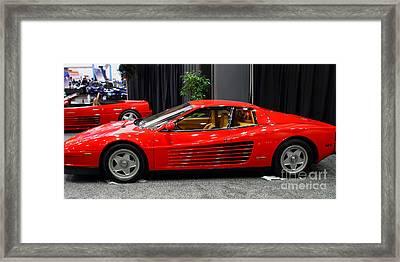 1987 Ferrari Testarossa . 7d9399 Framed Print by Wingsdomain Art and Photography