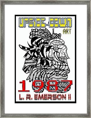 1987 Upside-down Art By Masg Artist L R Emerson II Framed Print