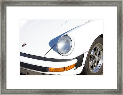 1987 White Porsche 911 Carrera Front Framed Print by James BO  Insogna