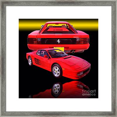 1990 Ferrari Testarossa Framed Print by Jim Carrell