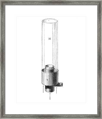 19th Century Argand Lamp, Artwork Framed Print by Library Of Congress