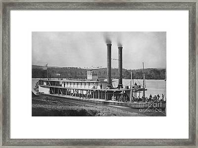 19th Century Army Steamer Framed Print by Photo Researchers