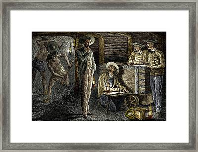 19th-century Coal Mining Framed Print by Sheila Terry
