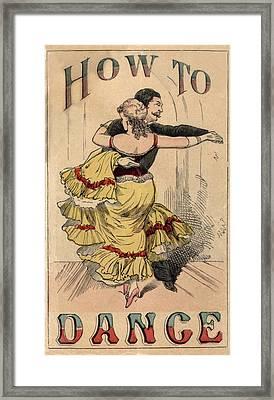 19th Century Dance Manual, How Framed Print by Everett