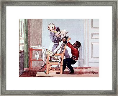19th Century Dentistry Tooth Extraction Framed Print by Science Source