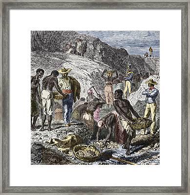 19th-century Diamond Mining, Brazil Framed Print by Sheila Terry