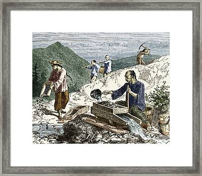 19th-century Gold Mining, Australia Framed Print by Sheila Terry