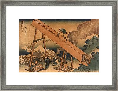 19th Century Japanese Print Shows Two Framed Print by Everett