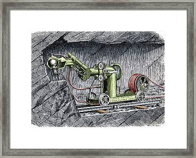 19th-century Mining Machine Framed Print by Sheila Terry