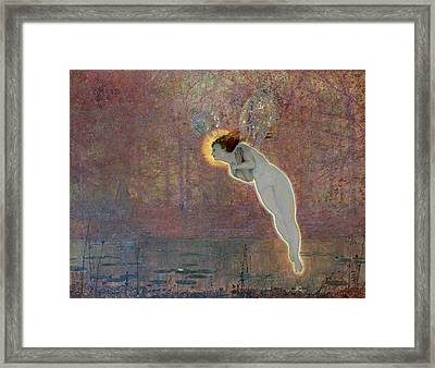 19th Century Painting Of Angel Framed Print by Photos.com