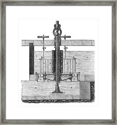 19th Century Parallel-flow Turbine Framed Print by Library Of Congress