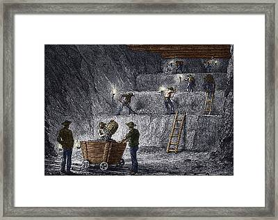 19th-century Step Mining, Prussia Framed Print by Sheila Terry