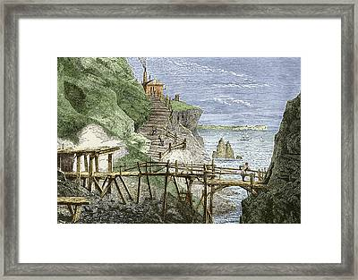 19th-century Tin Mine, Cornwall Framed Print by Sheila Terry