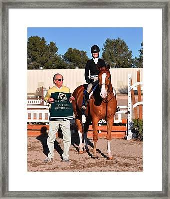 1st In Hunter Prix Framed Print by Yvonne Hazelton