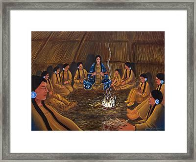 1st Pipe Ceremony Framed Print