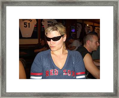 1st Red Sox Game-winning Framed Print by Erin Stepanek