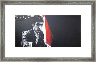 - Scarface - Framed Print by Luis Ludzska